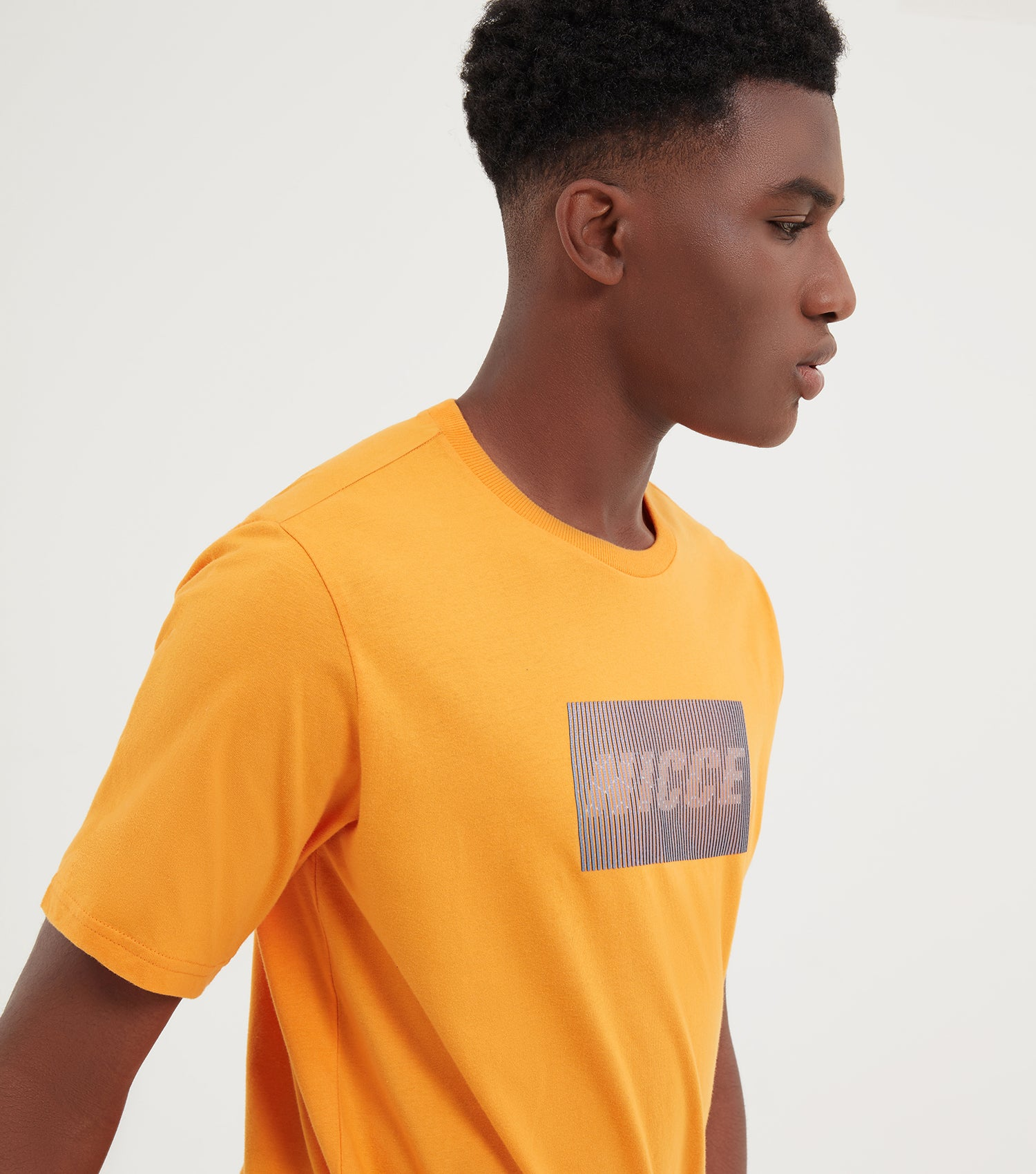 NICCE Mens Feint T-Shirt | Flaming Orange, T-Shirts