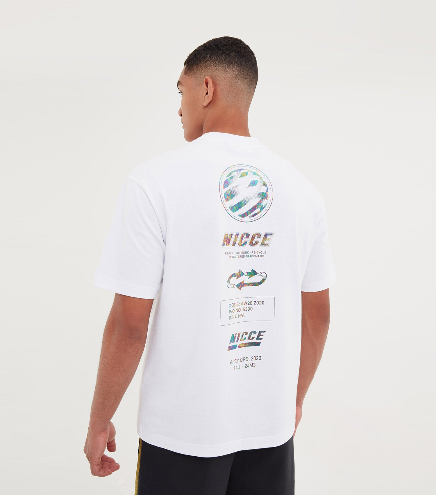 NICCE Mens Tee Type 1 | White, T-Shirts