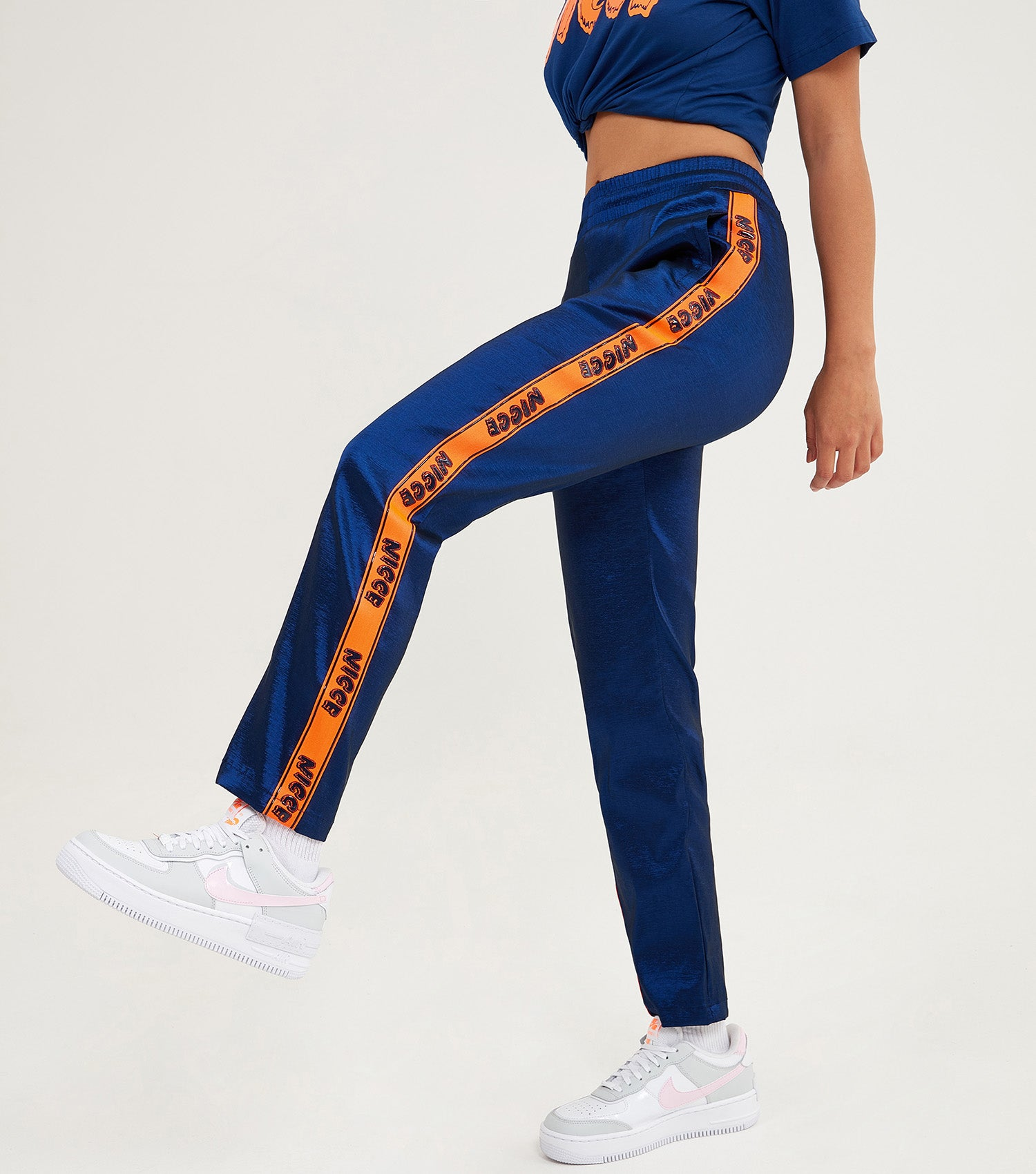 NICCE Womens Duo Slim Track Pants | Blue Depths