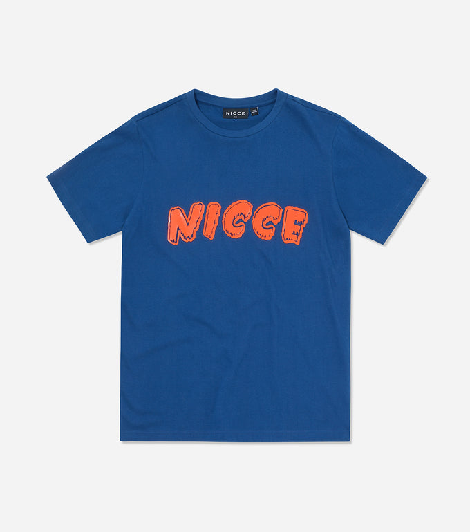 NICCE Womens Fete T-Shirt | Blue Depths/ Fiery Coral, T-Shirts