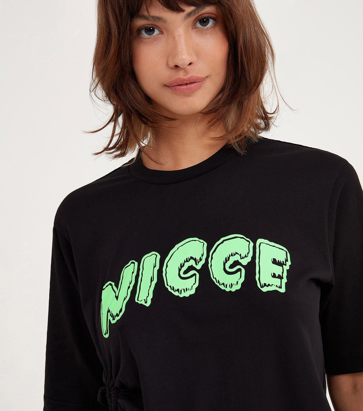 NICCE Womens Jest Crop T-Shirt | Black