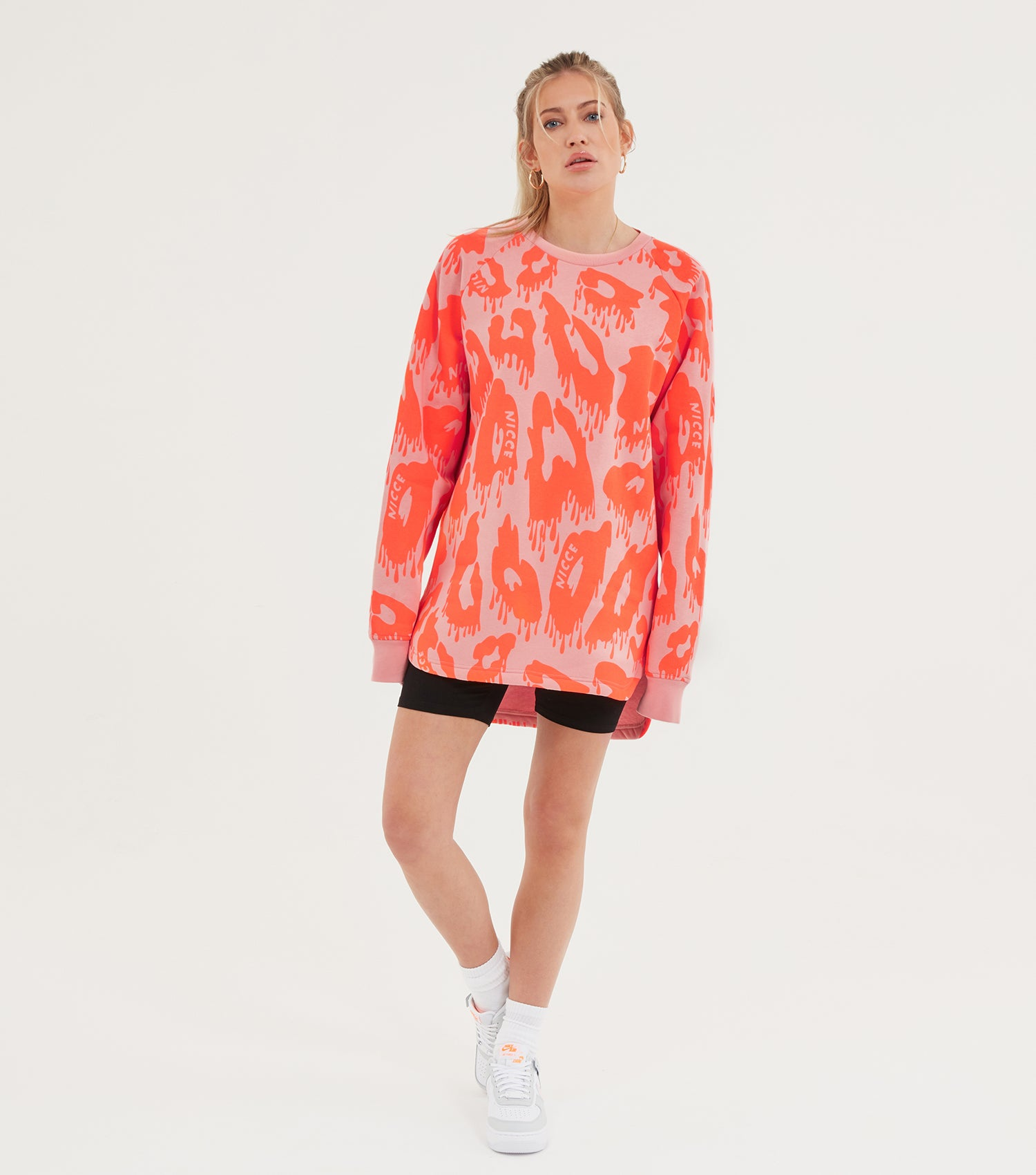 NICCE Womens Mime Sweat Dress | Candlelight Peach/ Fiery Coral, Dresses