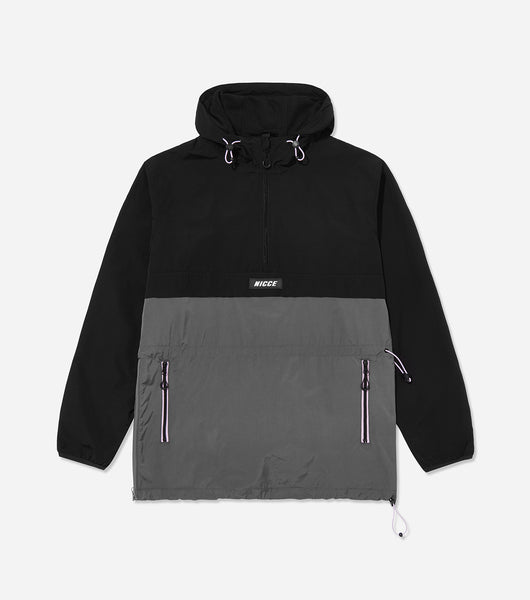 Nicce Mens Truss Cagoule | Black/ Steel Grey