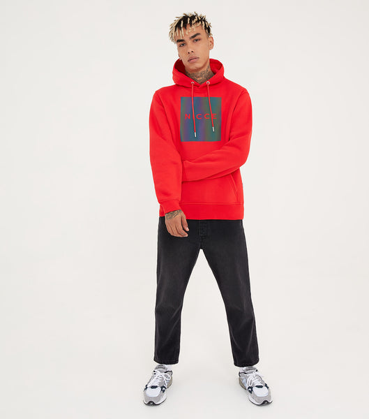 Nicce Mens Nitid Hood | Red/ Iridescent