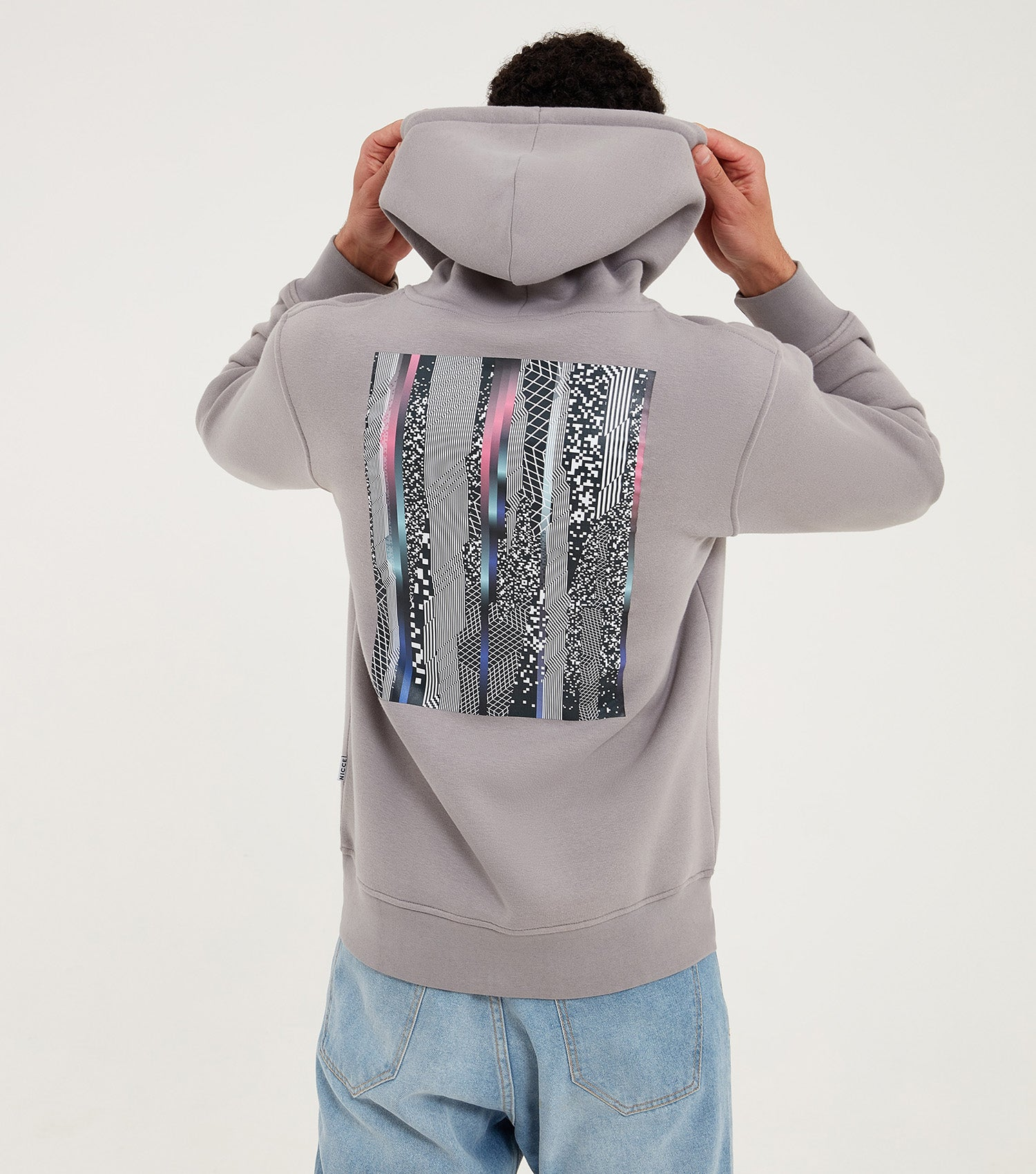 Nicce Mens Avel Hood | Frost Grey