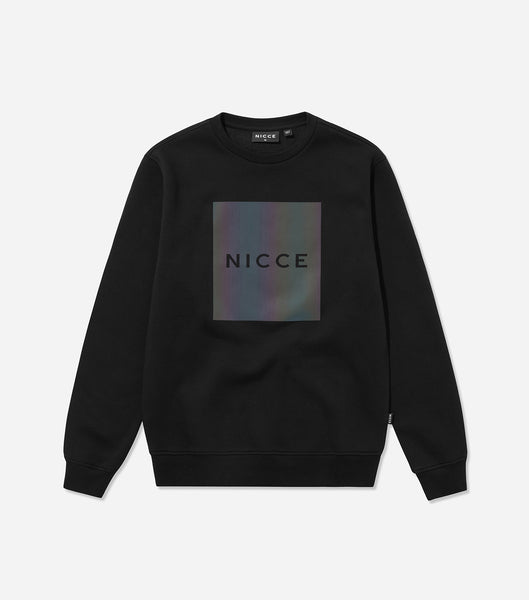 Nicce Mens Nitid Sweat | Black/ Iridescent