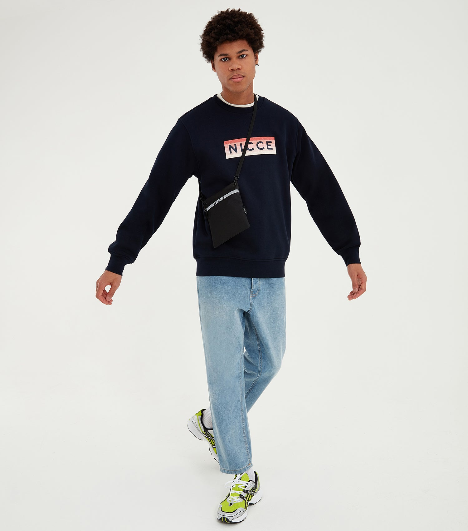 Nicce Mens Alto Sweat | Deep Navy