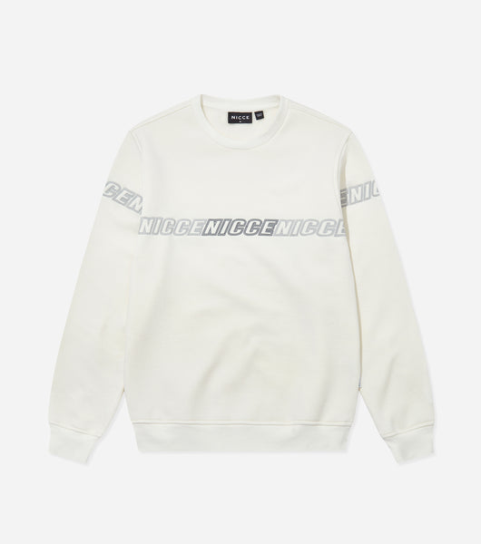 Nicce Mens Rioja Sweat | Ecru