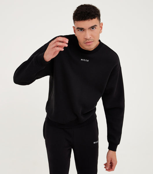Nicce Mens Mede OS Sweat I Black
