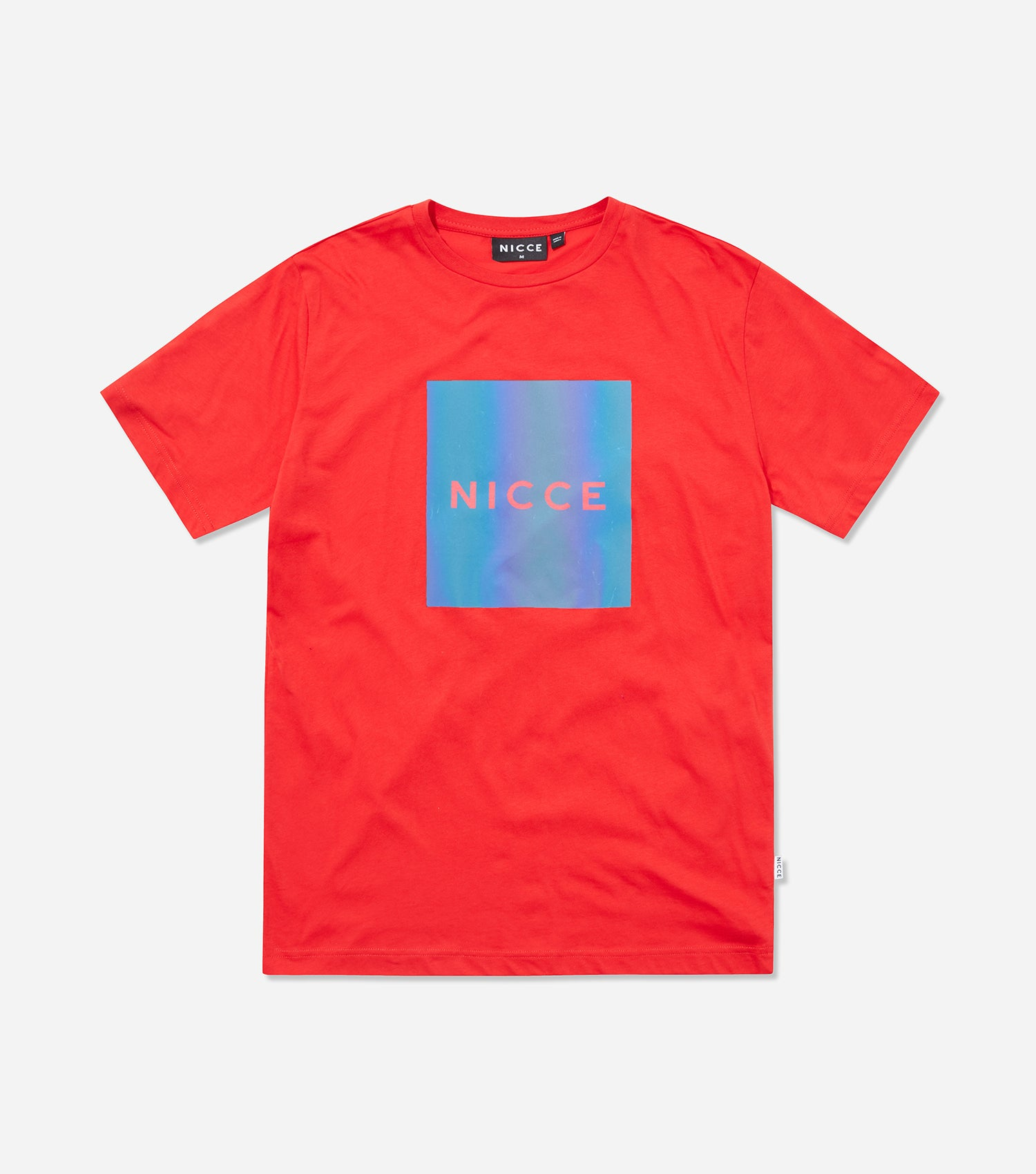 Nicce Mens Nitid T-Shirt | Red/ Iridescent