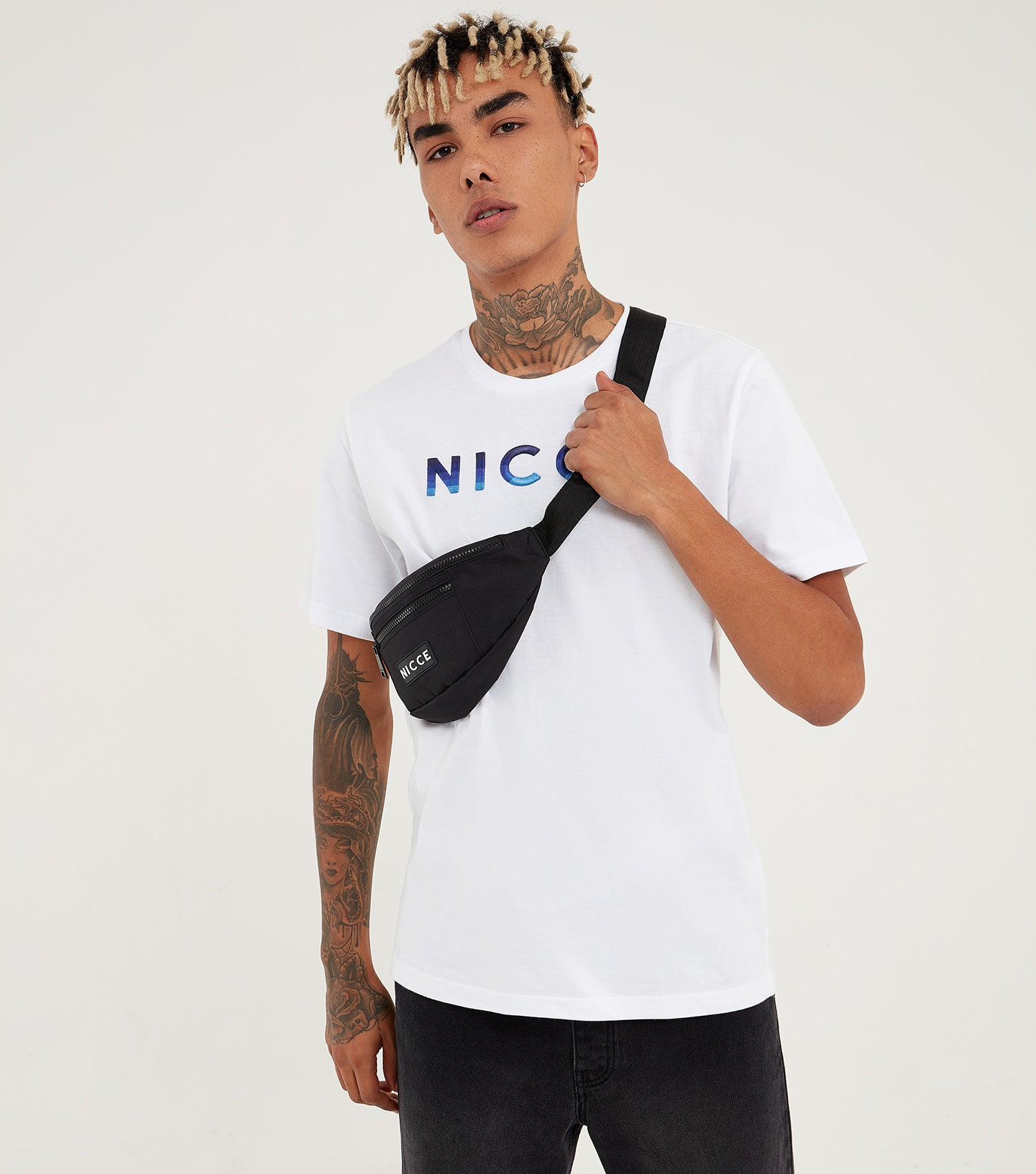 Nicce Mens Vina T-Shirt | White