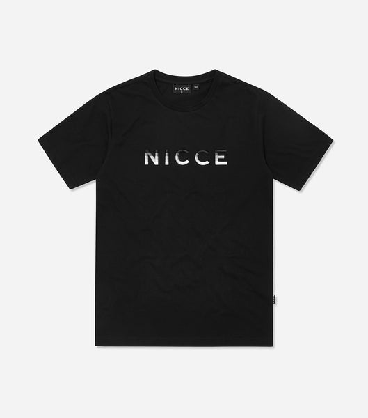 Nicce Mens Vina T-Shirt | Black/ Grey
