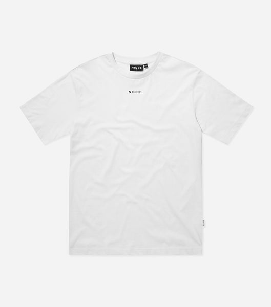 Nicce Mens Mede OS T-Shirt | White