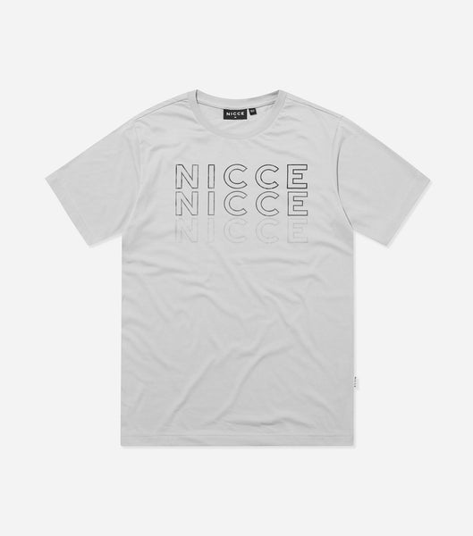 Nicce Mens Trois T-Shirt | Black/ Grey
