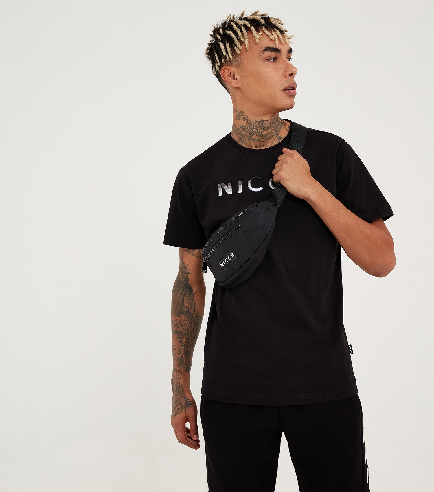 Nicce Mens Vina T-Shirt | Black