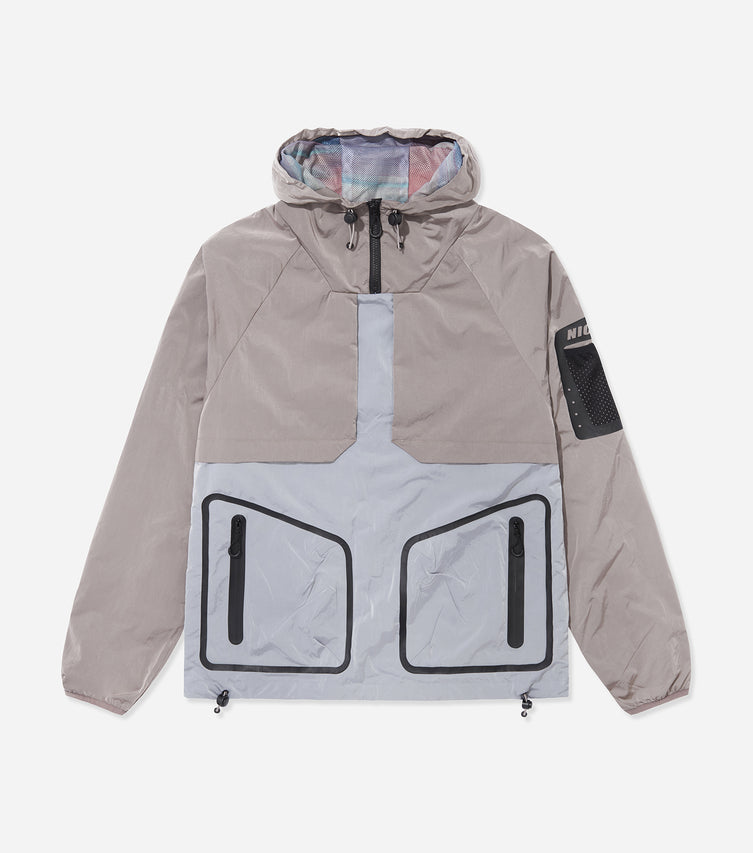 Nicce Mens Jacket Type 9-21 | Silver/ Dusty Pink