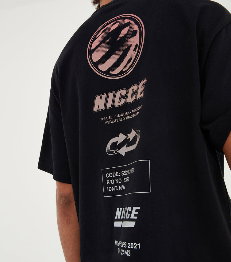 Nicce Mens Tee Type 3-21 | Black