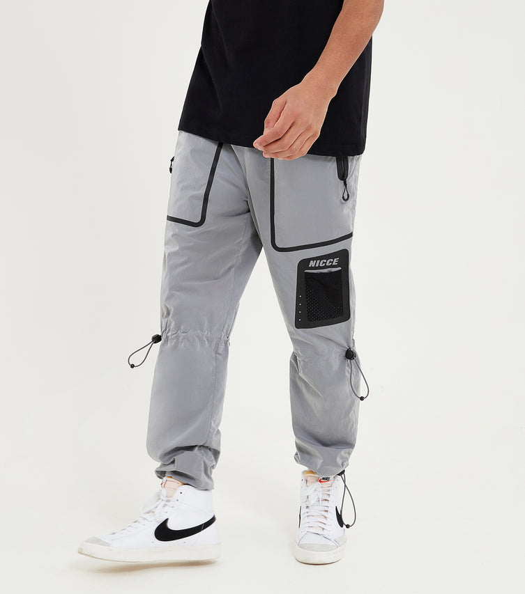 Nicce Mens Track Pants Type 5-21 | Silver