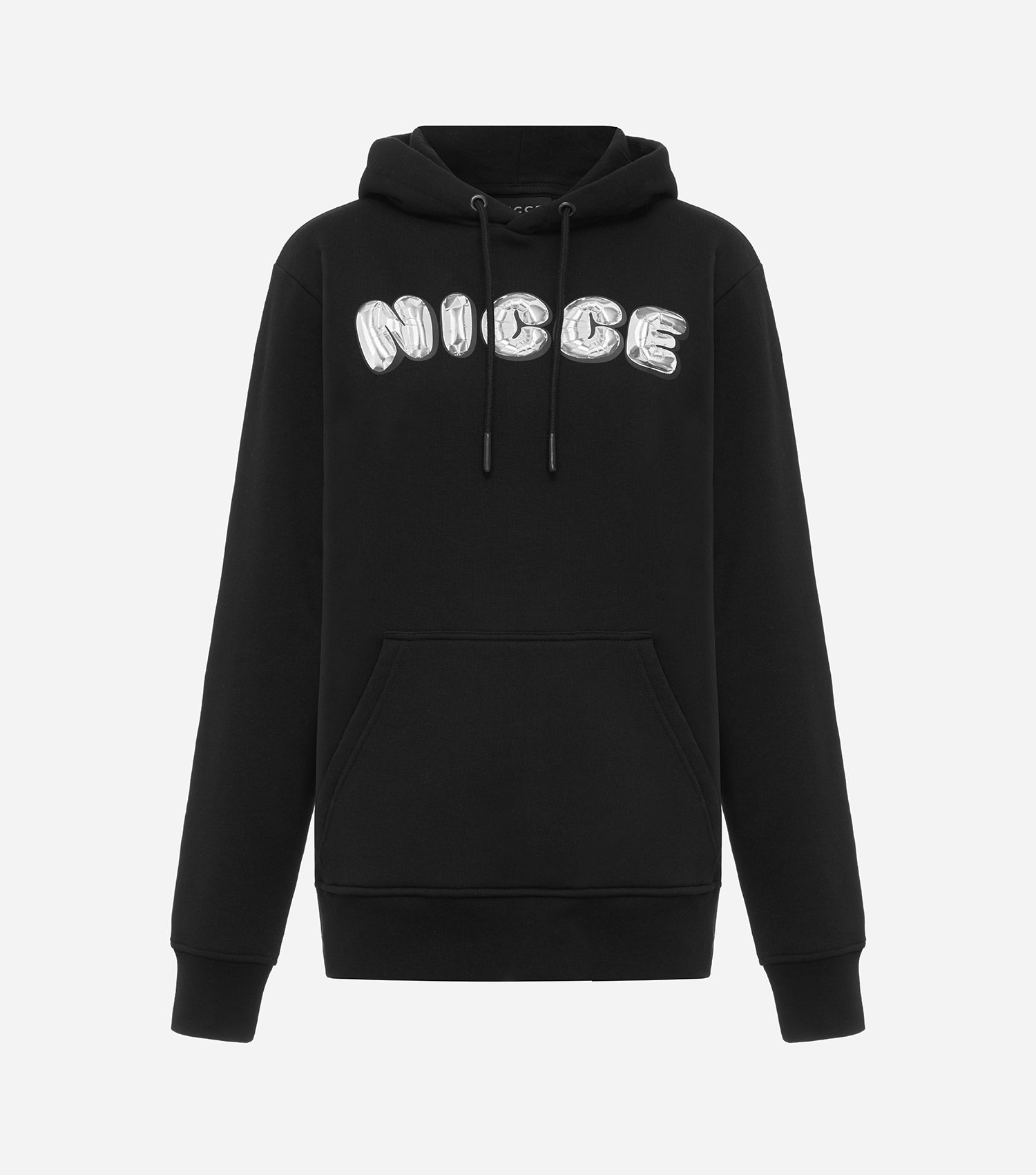 Nicce Womens Lenz Hoodie | Black/ Silver