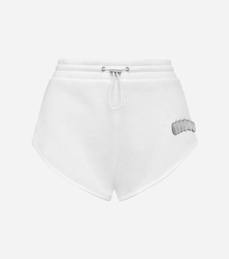 Nicce Womens Fallon Racer Shorts | White/ Silver
