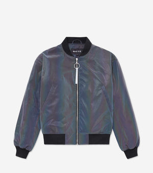 NICCE Womens Petrol Bomber | Iridescent, Outerwear