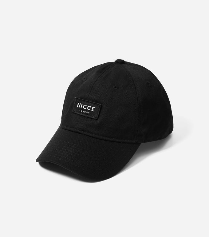 600d curve peak core cap, metal branded fastening with NICCE woven label & repeated logo lining.