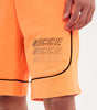 Nicce Mens Apollo Shorts | Black/Orange Clownfish, Shorts
