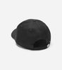 NICCE adey cap in black. Features gold embroidered logo, internal branding and deboss clasp.