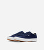 Affleck trainer in navy.  Features casual style in a classic casual trainer, canvas material, low ankle, woven laces, thick rubber vulcanised sole, Nicce tag branding.