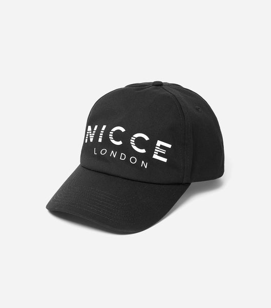 600d curve peak core cap, metal branded fastening with NICCE embroidered branding & repeated logo lining.