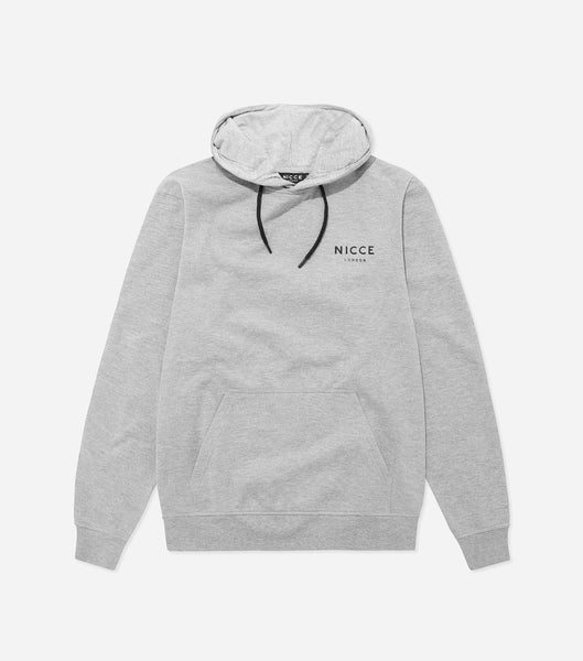 NICCE London Mens Original Chest Logo Hood | Grey, Hoodies