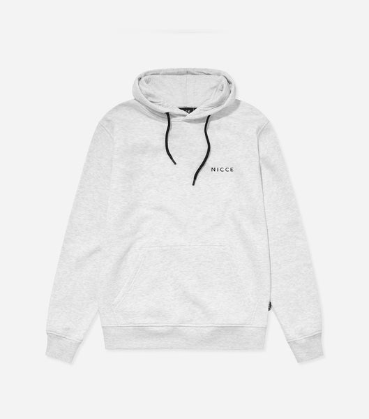 NICCE Mens Original Chest Logo Hood | Birch Grey, Hoodies