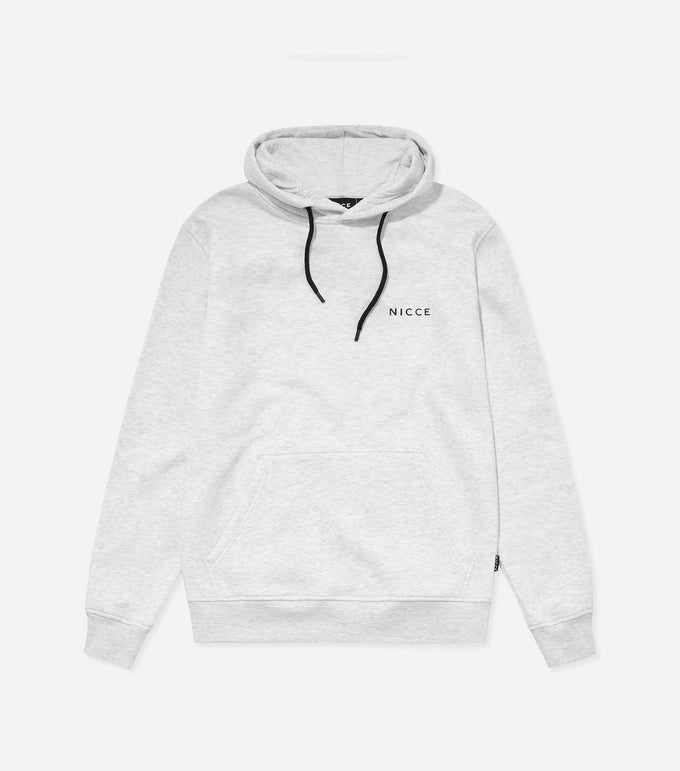 NICCE Womens Original Chest Logo Hood | Birch Grey, Hoodies