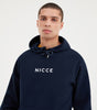 NICCE Mens Original Centre Logo Hood |  Navy, Hoodies