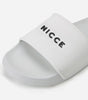 NICCE Mens Classico Slides | White, Footwear