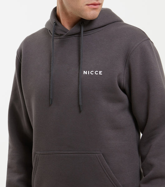NICCE Mens Original Chest Logo Hood | Coal, Hoodies