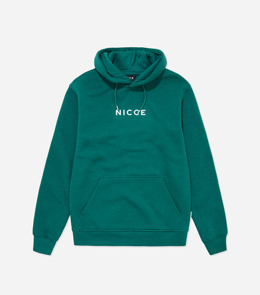 NICCE Mens Original Centre Logo Hood | Emerald, Hoodies