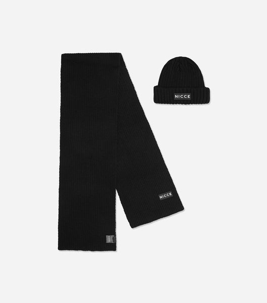NICCE COMBO BEANIE & SCARF | BLACK