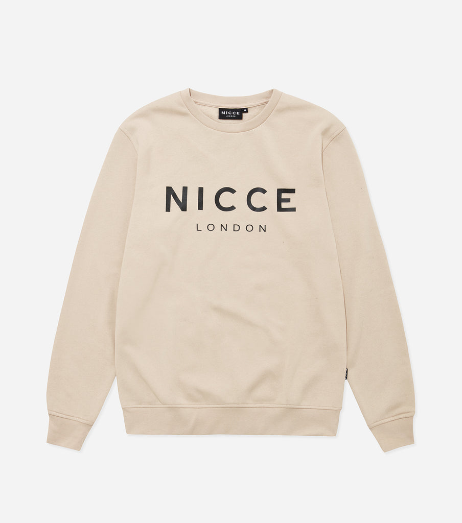 NICCE London Mens Original Sweat | Sand, Sweatshirts