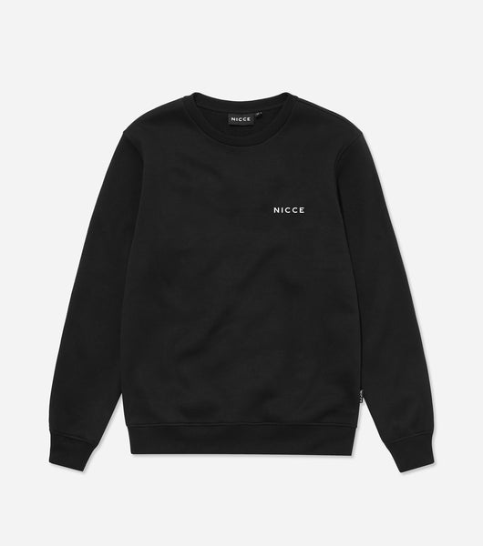 NICCE Mens Original Chest Logo Sweatshirt | Black, Sweatshirts