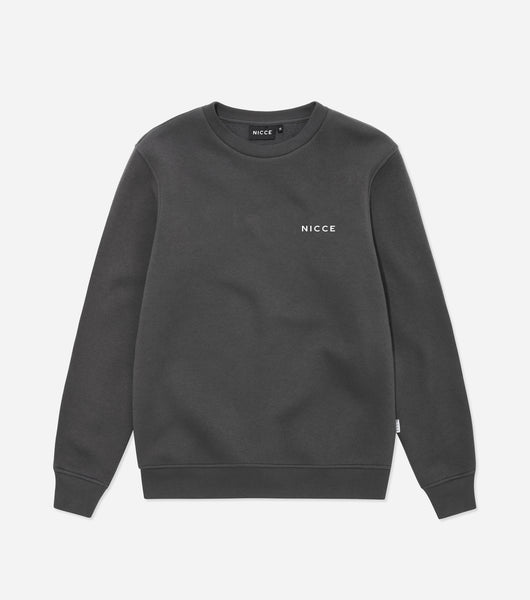 NICCE Mens Original Chest Logo Sweatshirt | Coal