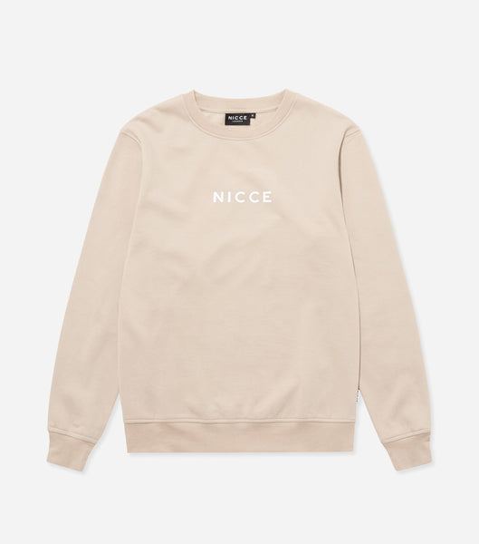 NICCE Mens Original Centre Logo Sweat | Sand, Sweatshirts