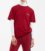 NICCE chest logo short sleeve t-shirt in merlot. Features, crew neck, short sleeves and NICCE chest logo. Pair with joggers.