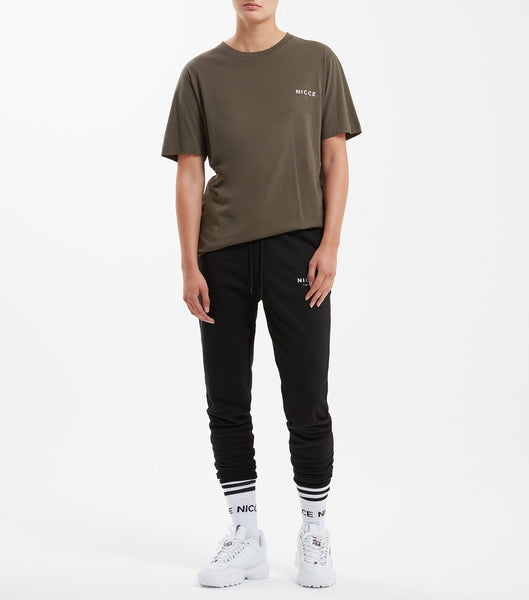 NICCE chest logo short sleeve t-shirt in olive. Features crew neck, short sleeves and NICCE chest logo. Pair with joggers