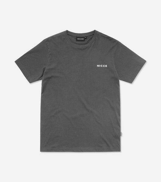 NICCE Mens Original Chest Logo T-Shirt | Coal