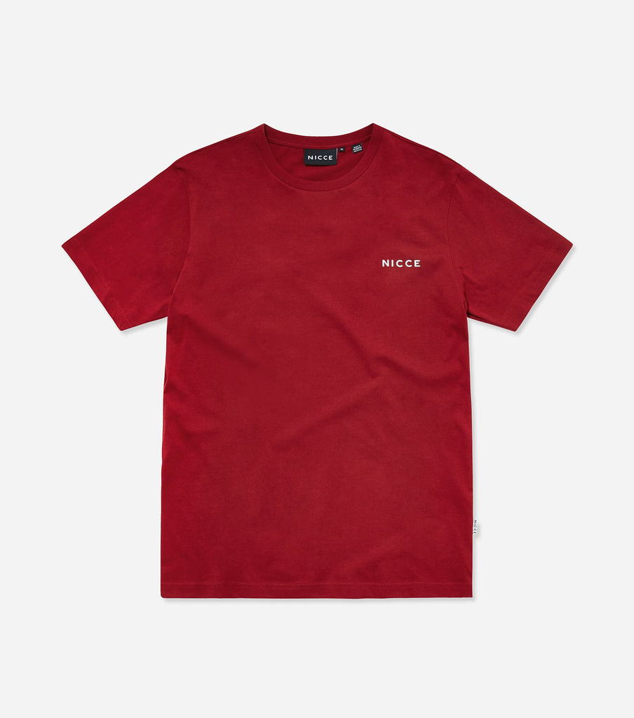 NICCE Mens Original Chest Logo T-Shirt | Merlot, T-Shirts