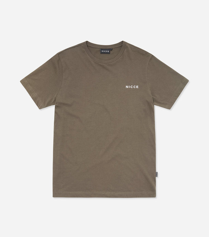 NICCE Mens Chest Logo T-Shirt | Khaki, T-Shirts
