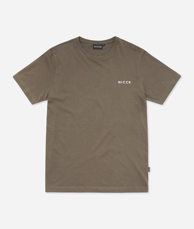 NICCE Womens Chest Logo T-Shirt | Khaki, T-Shirts