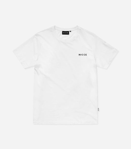 NICCE Womens Chest Logo T-Shirt | White, T-Shirts
