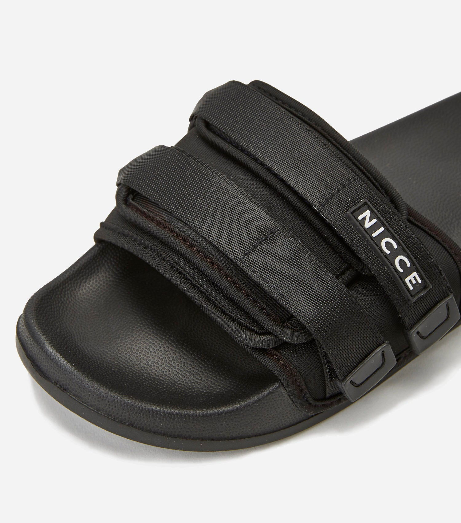 NICCE Mens Devone Slides | Black, Footwear